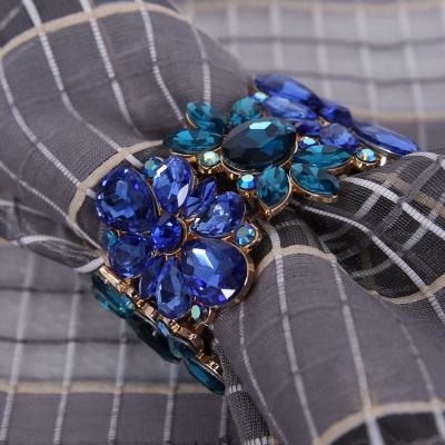 蓝色水晶餐扣
