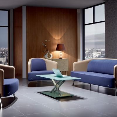 新款现代设计师创意沙发4S店会客区接待小沙发商务办公沙发
