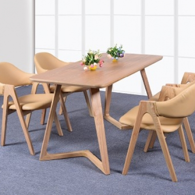 洽谈一桌四椅实木组合
