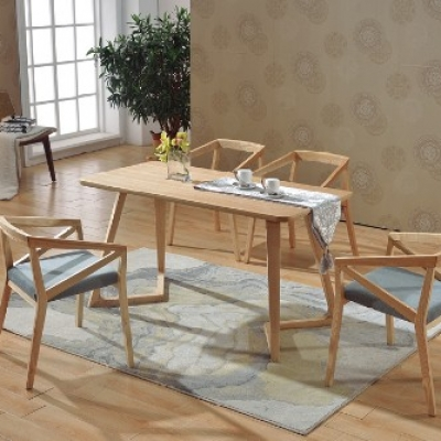 北欧洽谈,餐桌椅组合现代实木